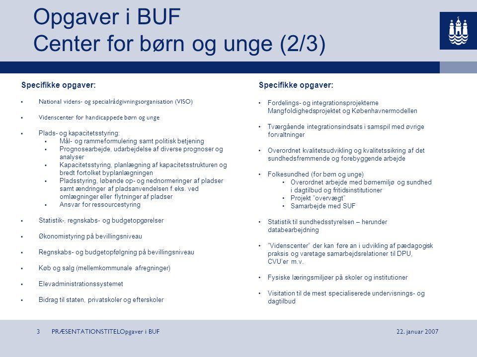 Opgaver i BUF Center for børn og unge (2/3)