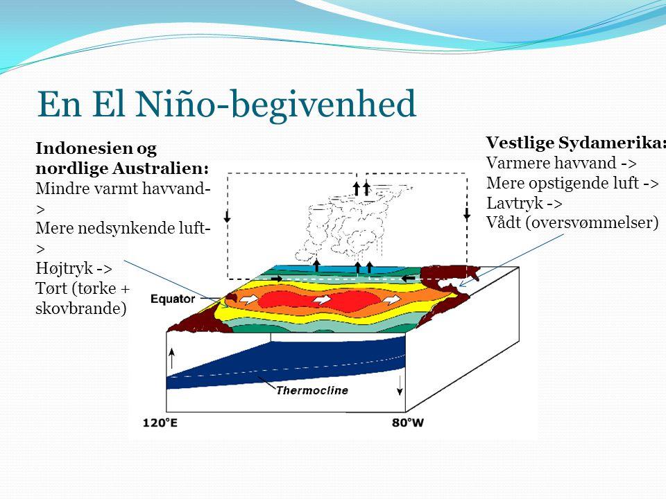 En El Niño-begivenhed Vestlige Sydamerika: