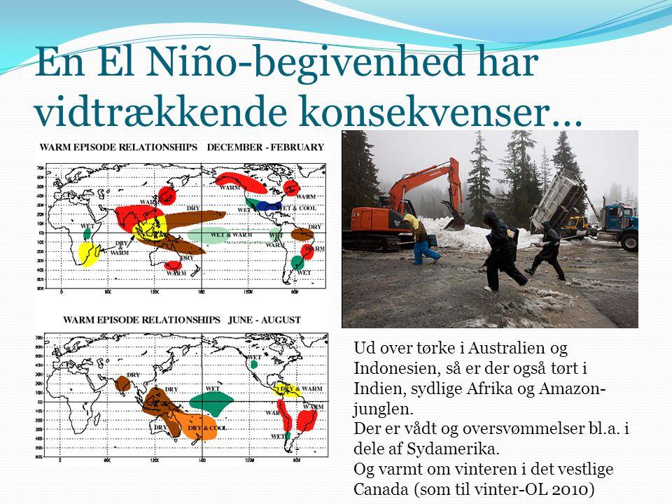 En El Niño-begivenhed har vidtrækkende konsekvenser…