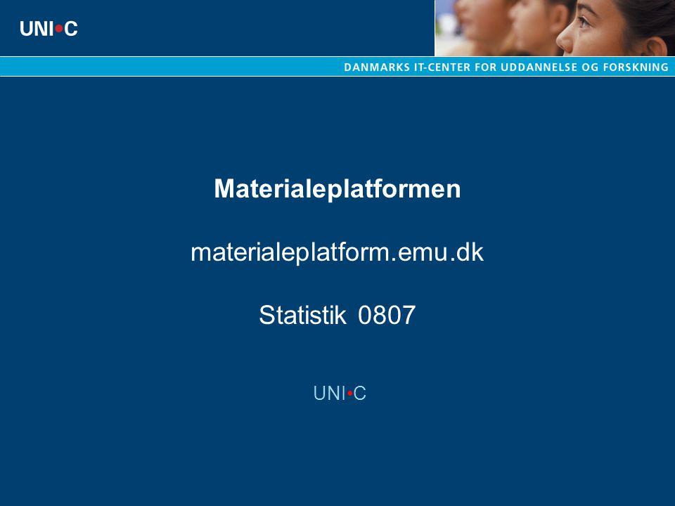 Materialeplatformen materialeplatform.emu.dk Statistik 0807