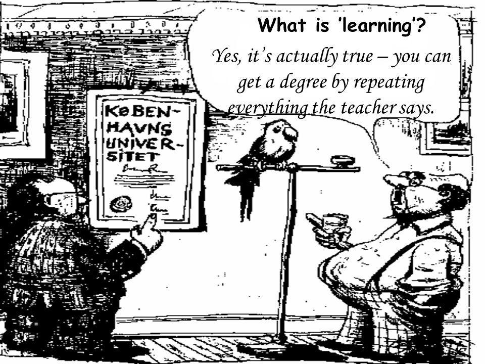 What is 'learning'.