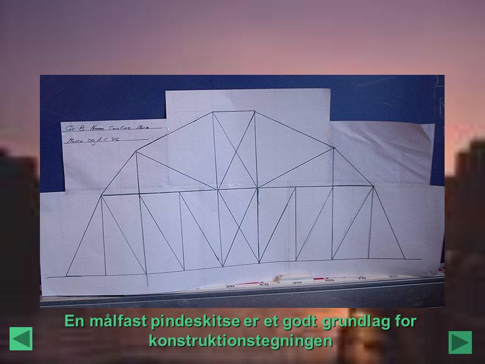 En målfast pindeskitse er et godt grundlag for konstruktionstegningen