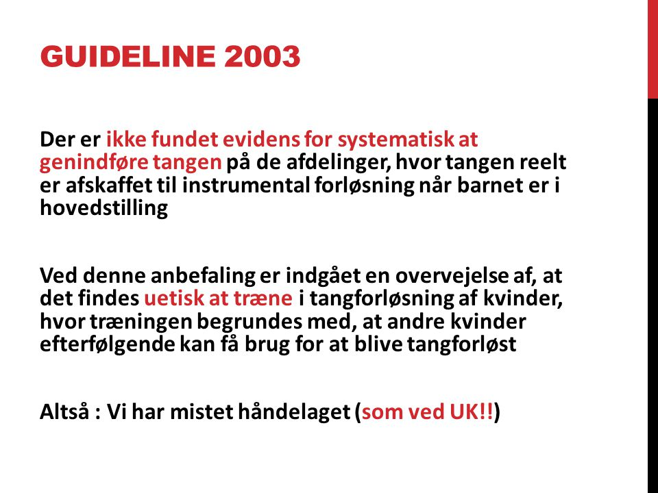 Guideline 2003