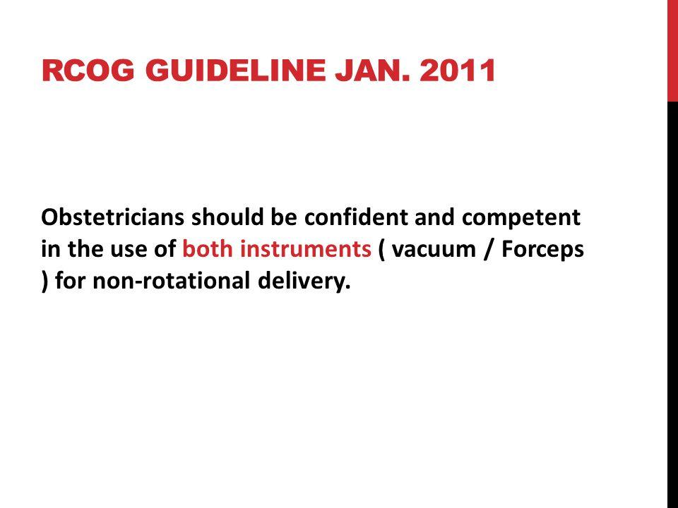 RCOG guideline jan. 2011