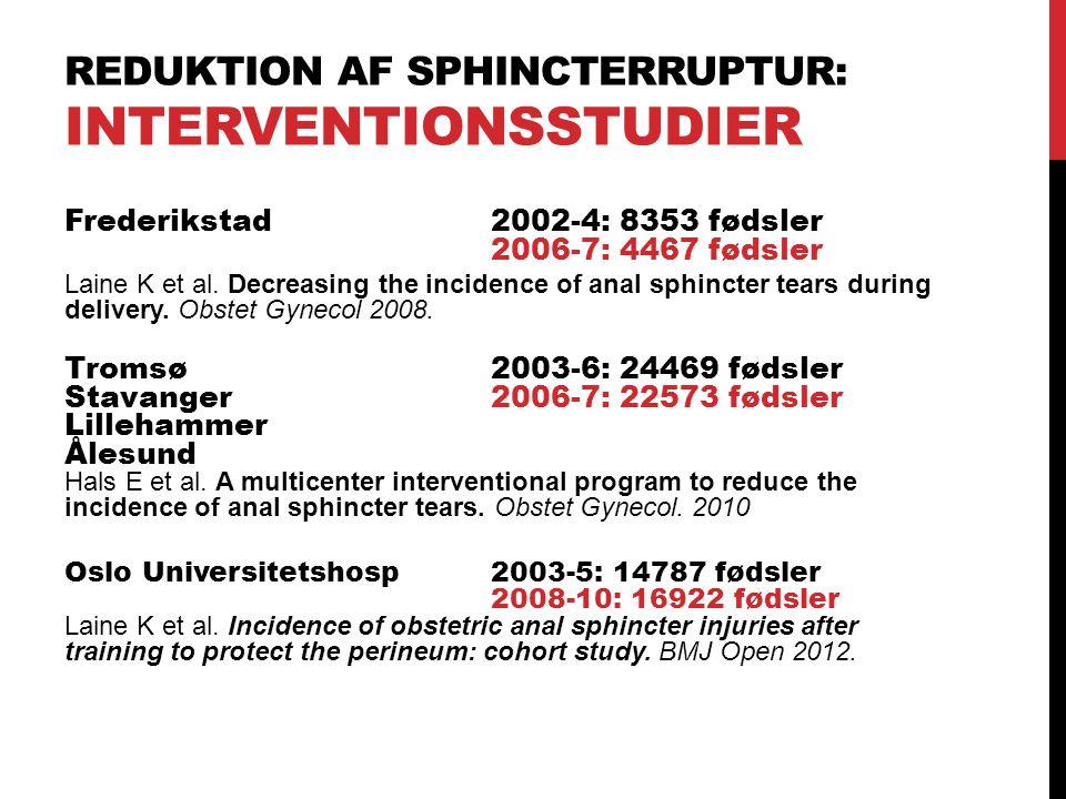 Reduktion af sphincterruptur: Interventionsstudier