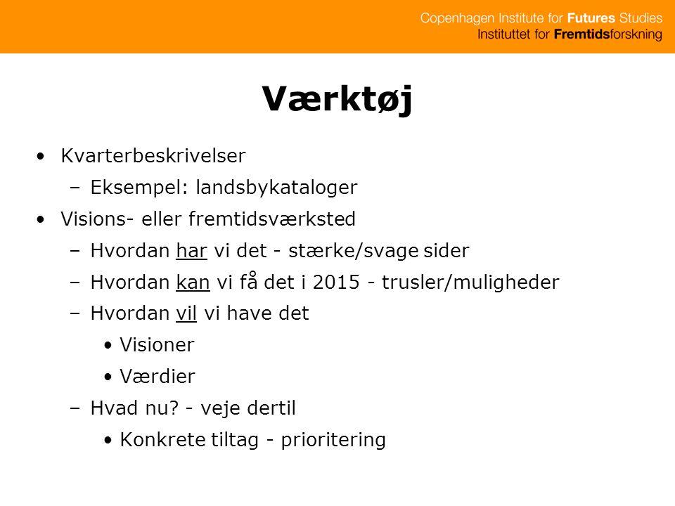 Værktøj Kvarterbeskrivelser Eksempel: landsbykataloger