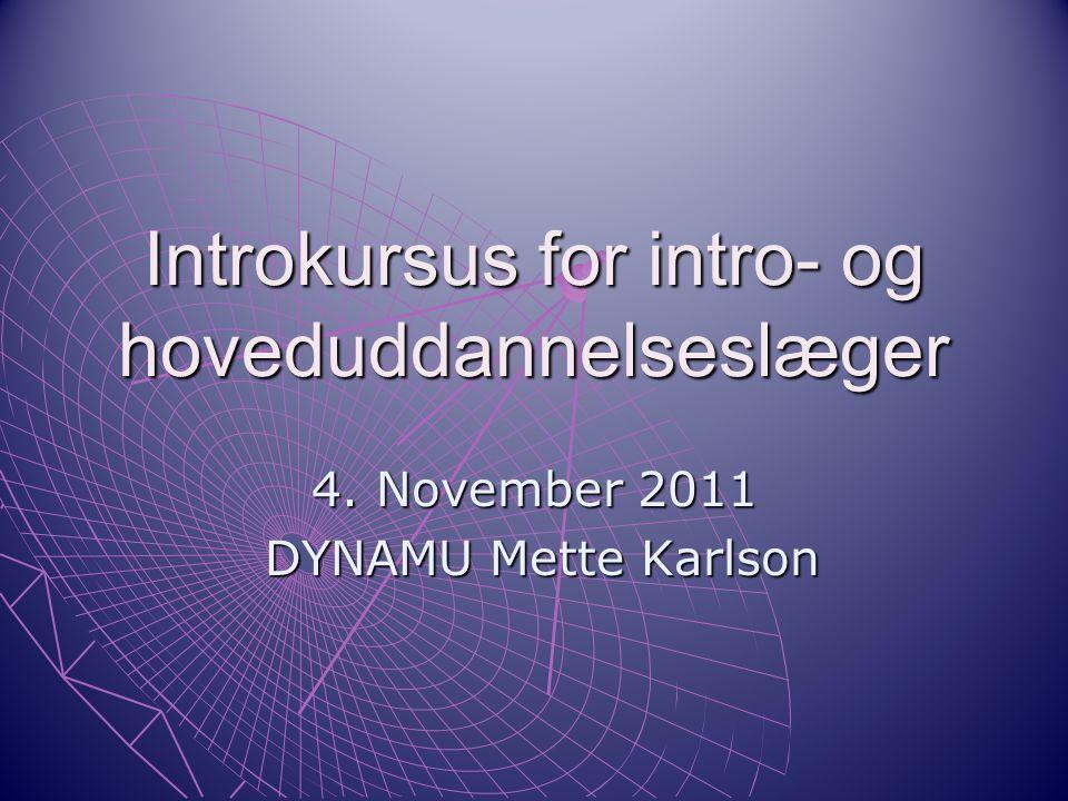 Introkursus for intro- og hoveduddannelseslæger