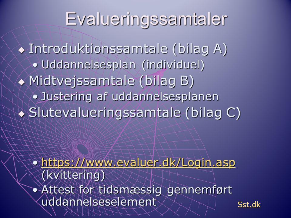 Evalueringssamtaler Introduktionssamtale (bilag A)