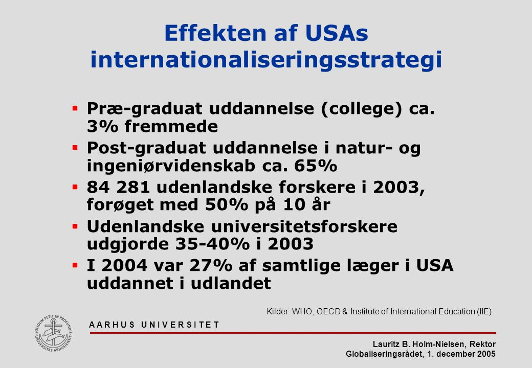Effekten af USAs internationaliseringsstrategi