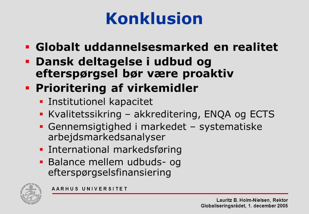 Konklusion Globalt uddannelsesmarked en realitet