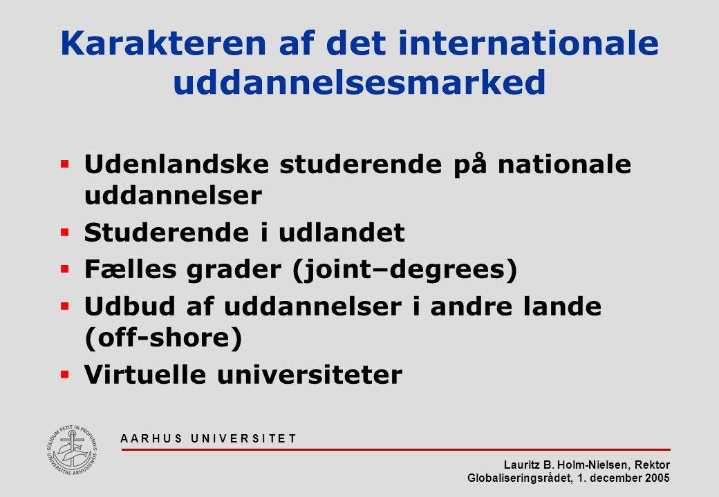 Karakteren af det internationale uddannelsesmarked