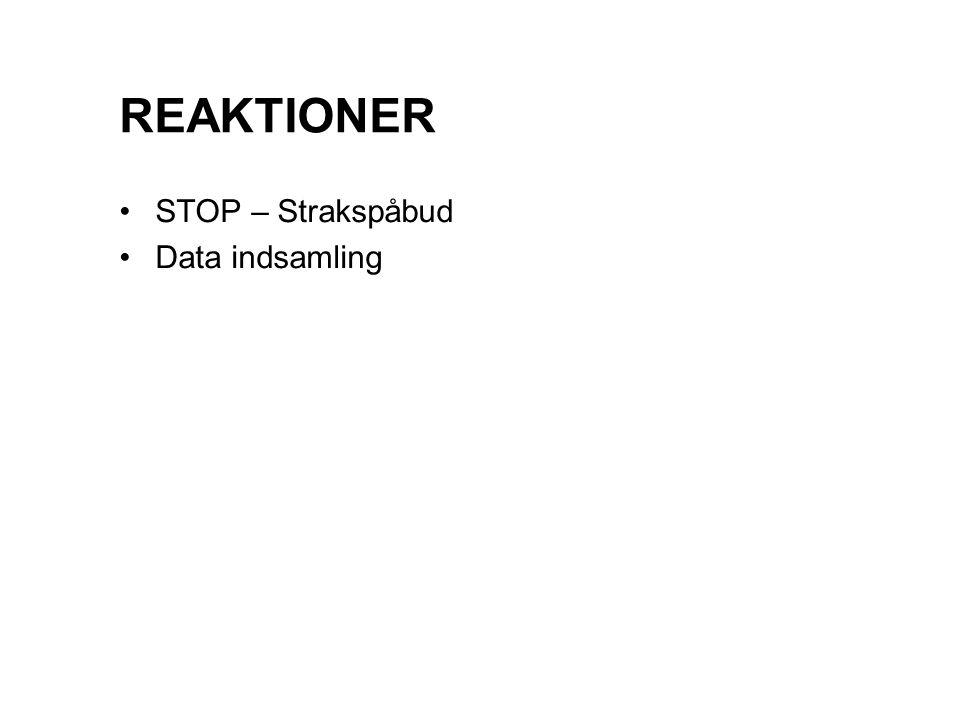 REAKTIONER STOP – Strakspåbud Data indsamling