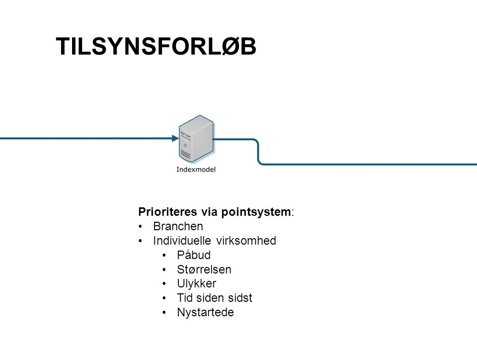 TILSYNSFORLØB Prioriteres via pointsystem: Branchen