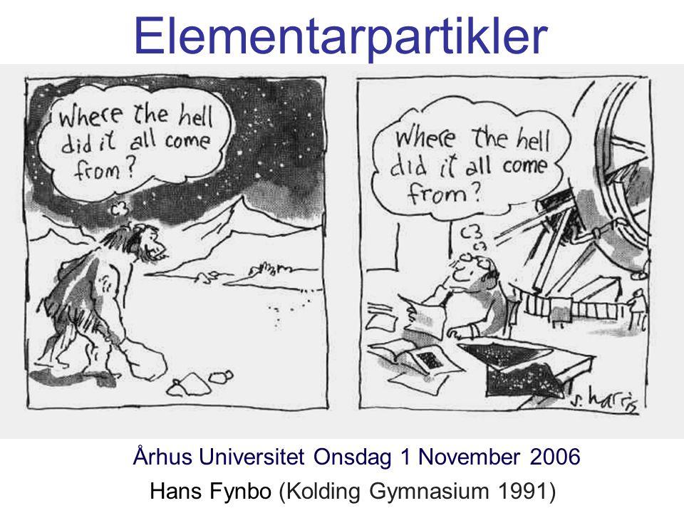 Elementarpartikler Århus Universitet Onsdag 1 November 2006