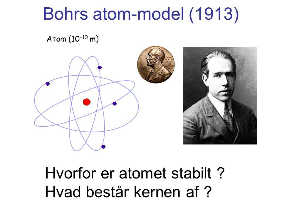Bohrs atom-model (1913) Hvorfor er atomet stabilt