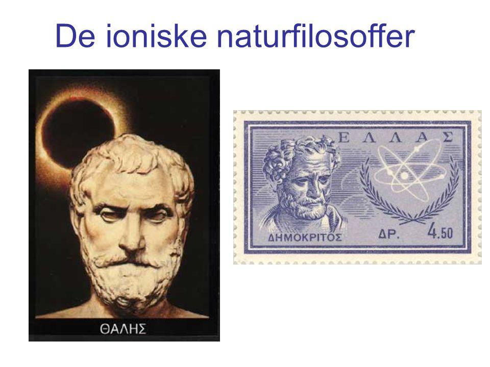 De ioniske naturfilosoffer