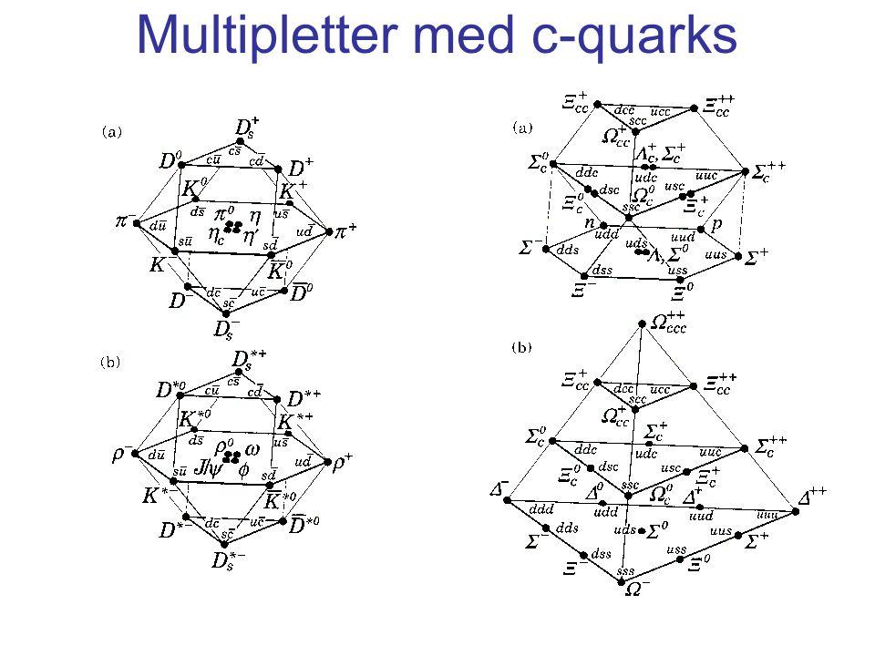 Multipletter med c-quarks