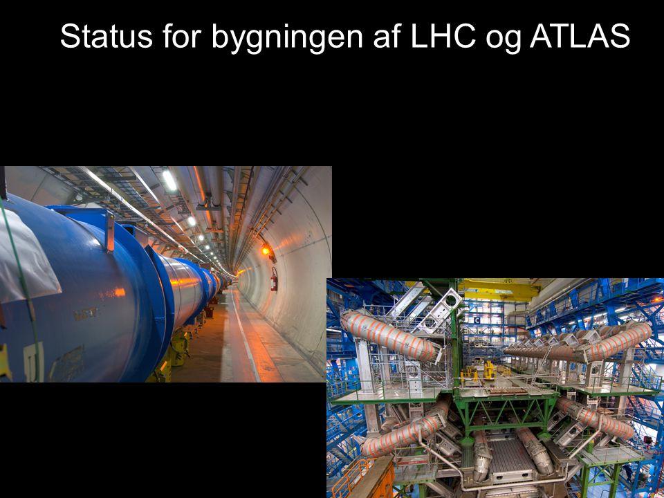 Status for bygningen af LHC og ATLAS