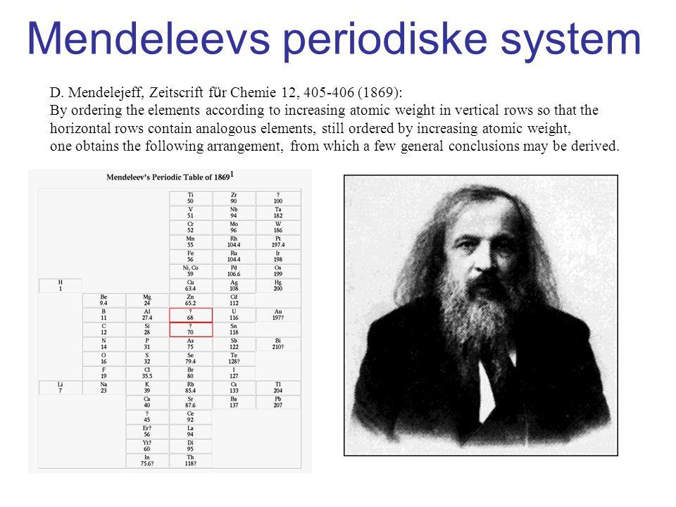Mendeleevs periodiske system