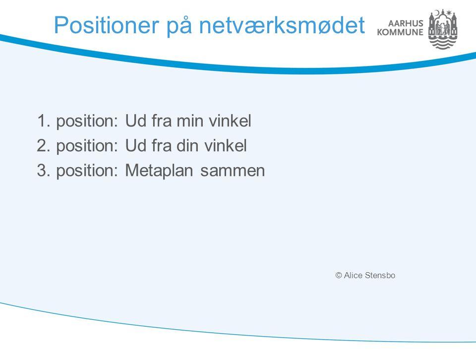 Positioner på netværksmødet