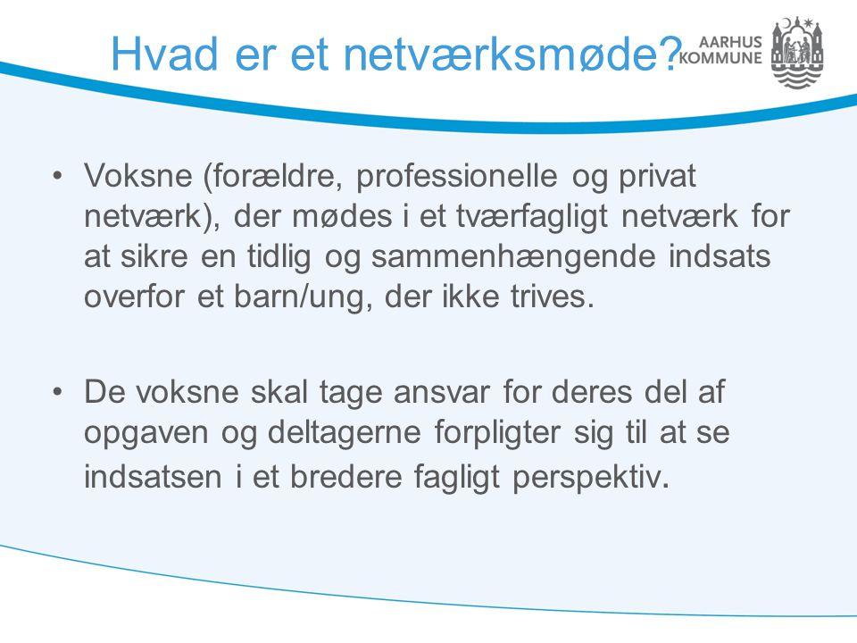Hvad er et netværksmøde
