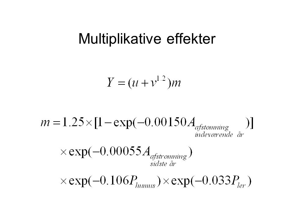 Multiplikative effekter
