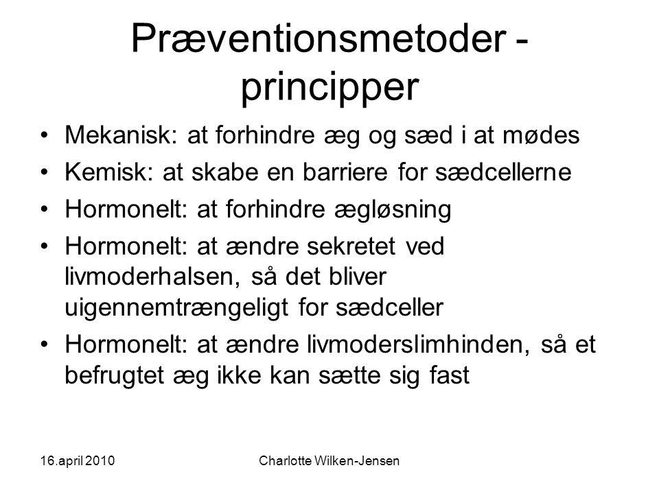 Præventionsmetoder - principper