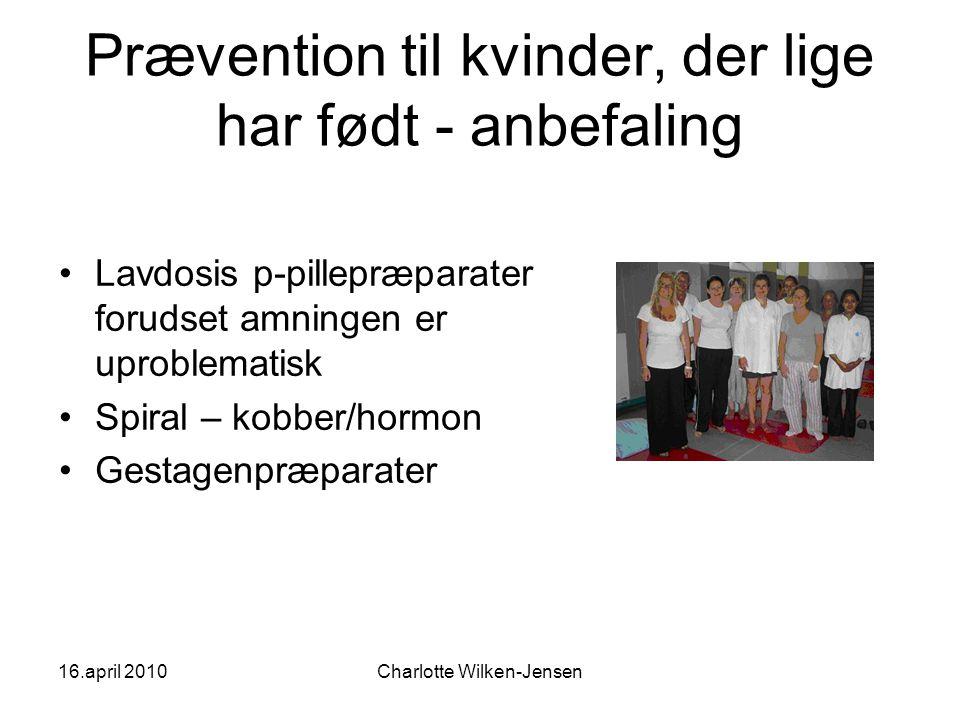 Prævention til kvinder, der lige har født - anbefaling