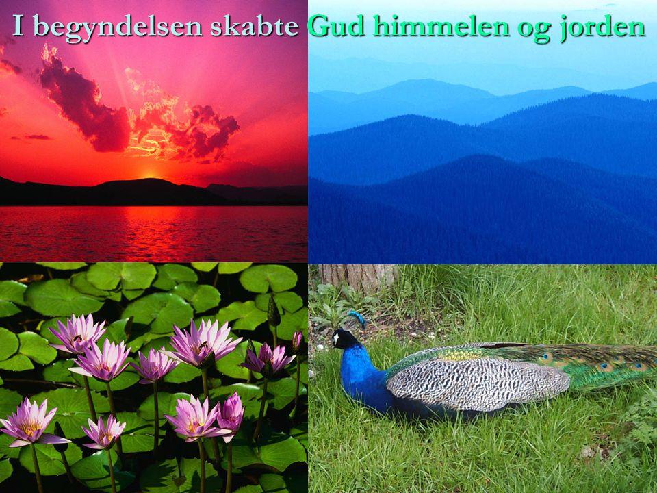 I begyndelsen skabte Gud himmelen og jorden