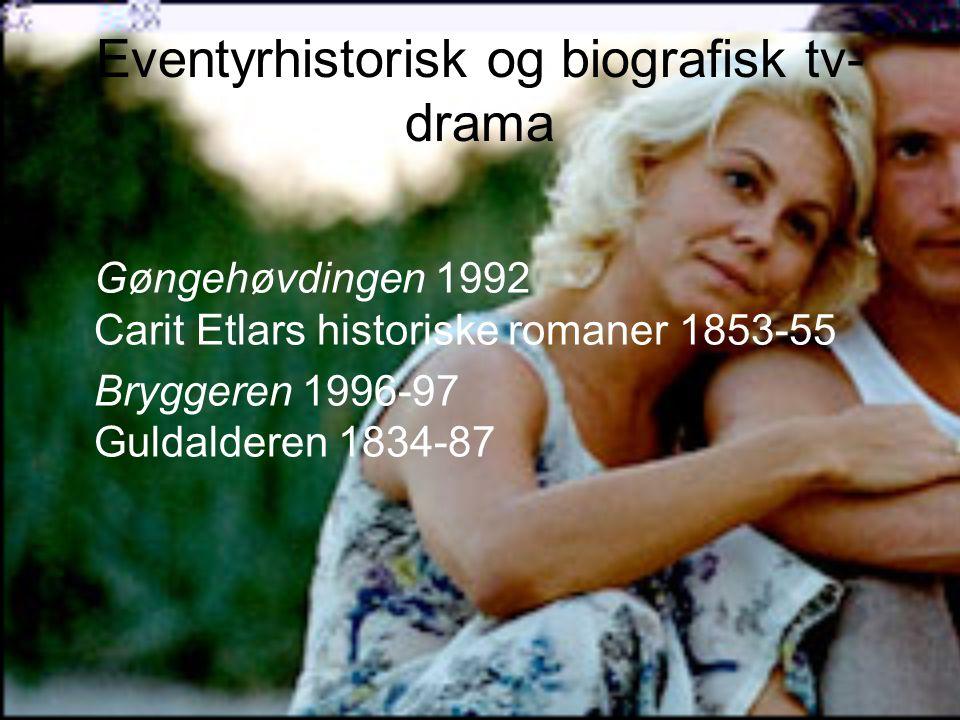 Eventyrhistorisk og biografisk tv-drama