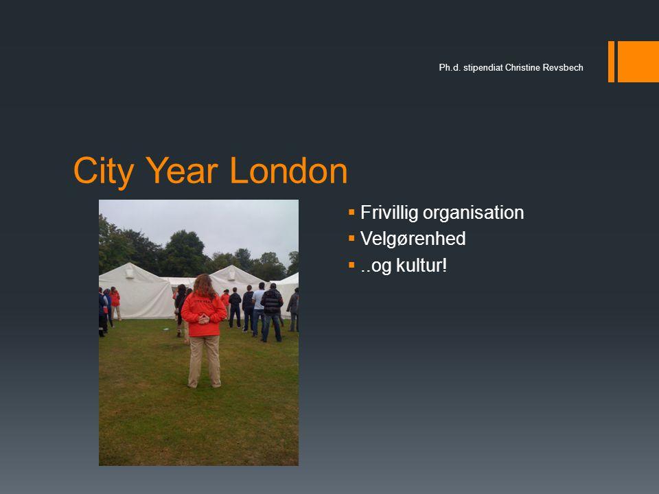 City Year London Frivillig organisation Velgørenhed ..og kultur!
