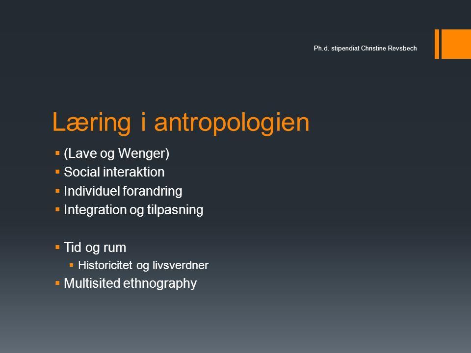 Læring i antropologien