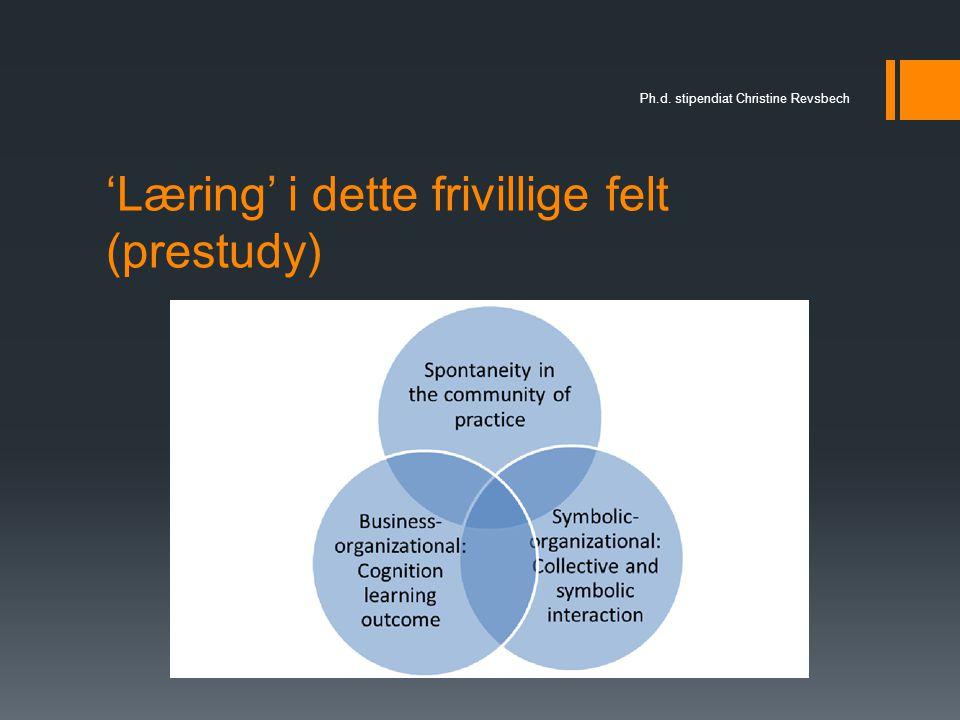 'Læring' i dette frivillige felt (prestudy)