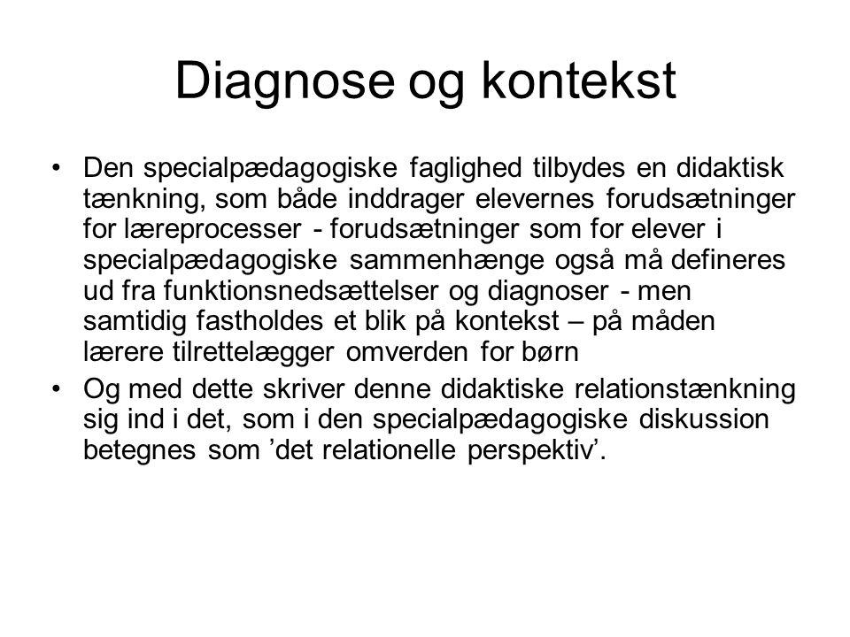 Diagnose og kontekst