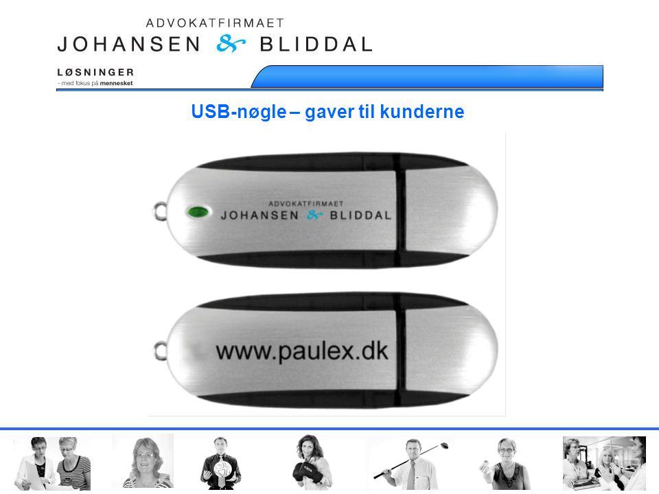 USB-nøgle – gaver til kunderne