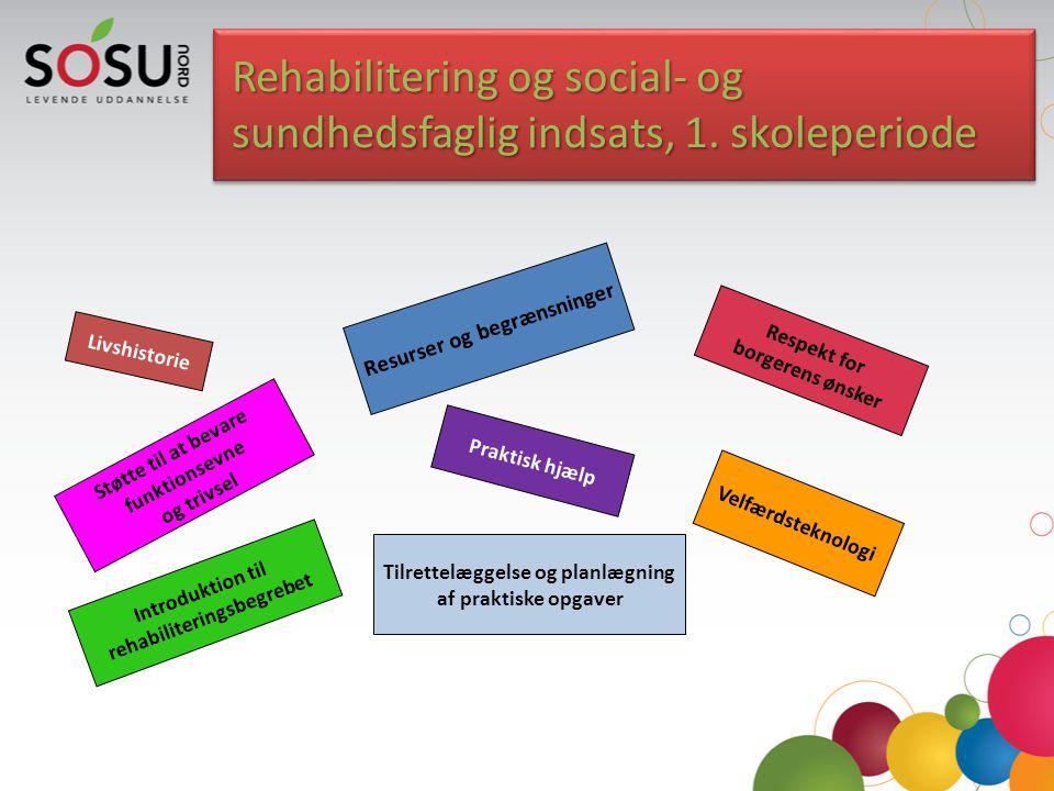 Rehabilitering og social- og sundhedsfaglig indsats, 1. skoleperiode