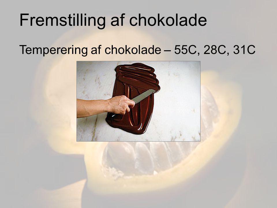 Fremstilling af chokolade