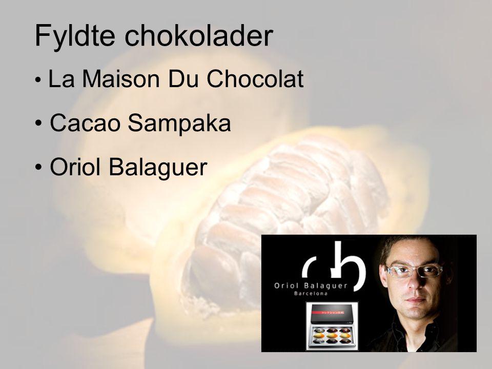 Fyldte chokolader La Maison Du Chocolat Cacao Sampaka Oriol Balaguer