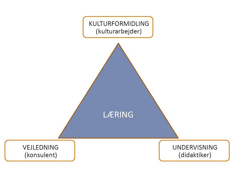 LÆRING KULTURFORMIDLING (kulturarbejder) VEJLEDNING (konsulent)
