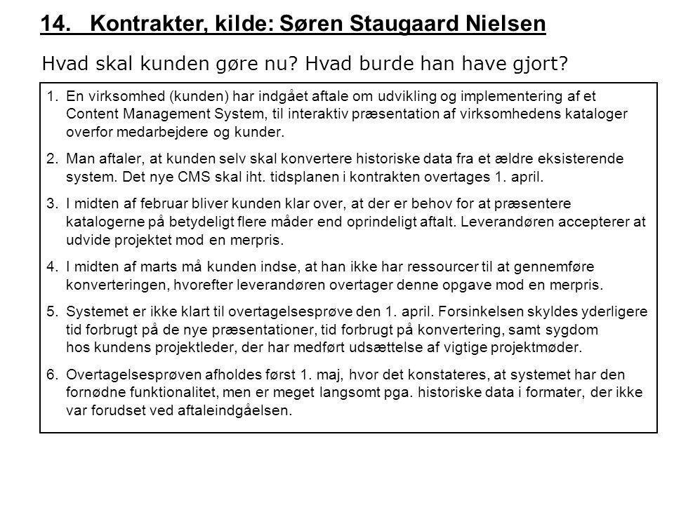 14. Kontrakter, kilde: Søren Staugaard Nielsen