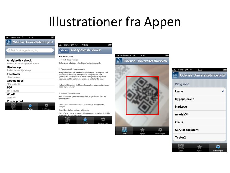 Illustrationer fra Appen