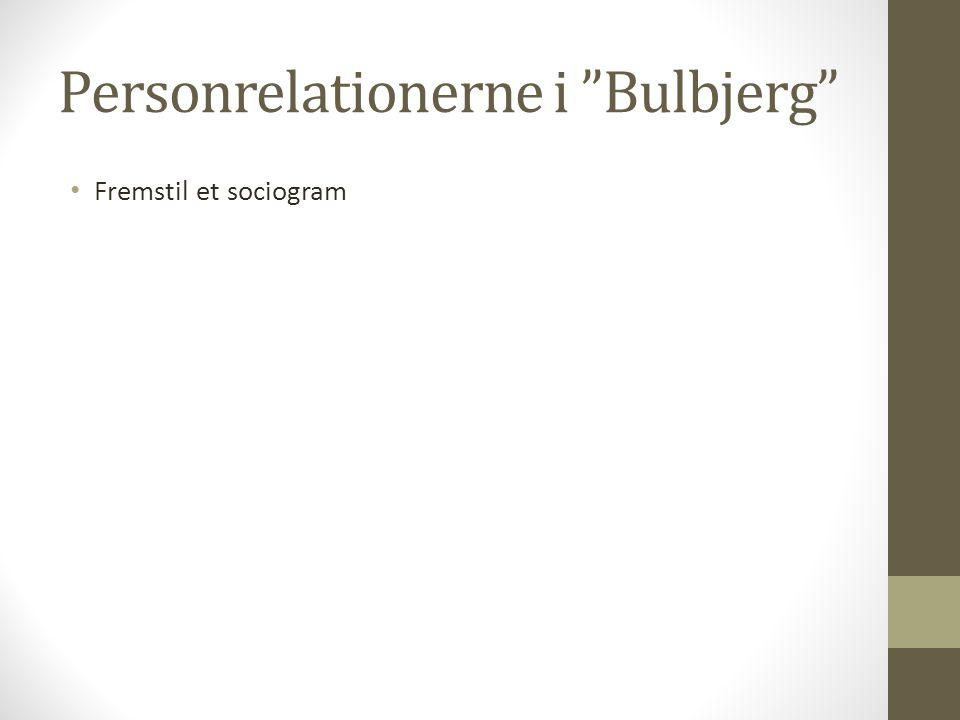 Personrelationerne i Bulbjerg