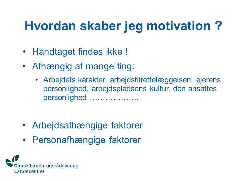 Hvordan skaber jeg motivation