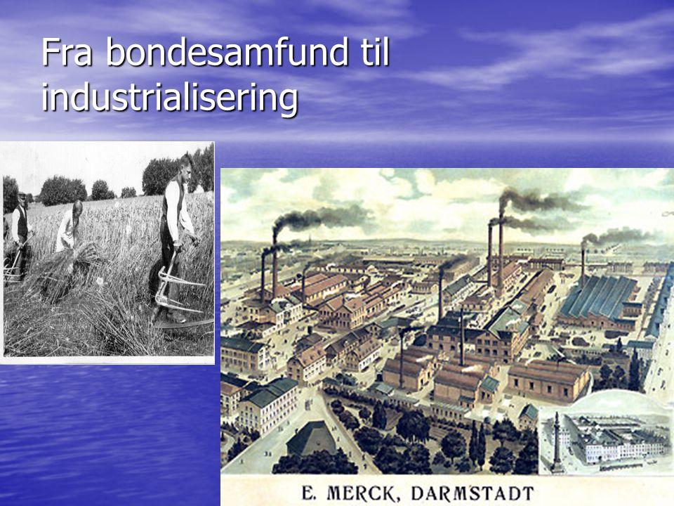 Fra bondesamfund til industrialisering