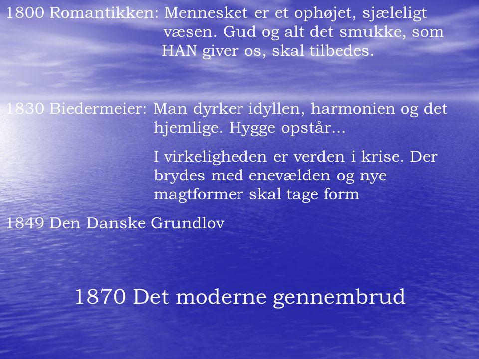 1870 Det moderne gennembrud