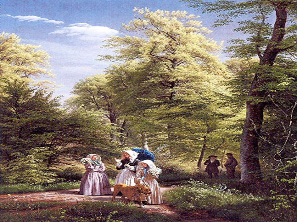 Et meget yndet motiv i romantikken var familien i naturen.