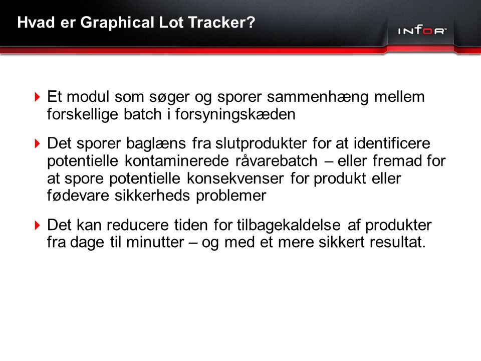 Hvad er Graphical Lot Tracker