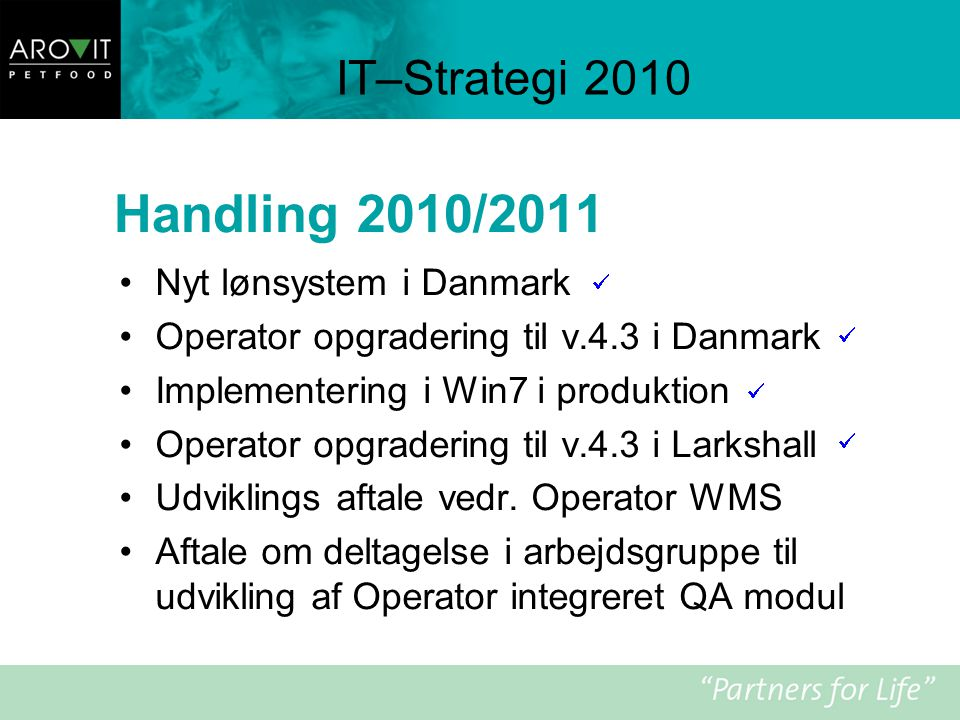 Handling 2010/2011 IT–Strategi 2010 Nyt lønsystem i Danmark
