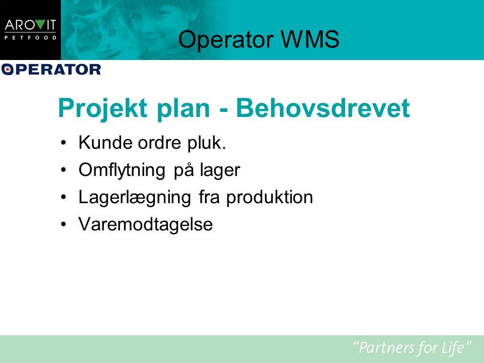 Projekt plan - Behovsdrevet