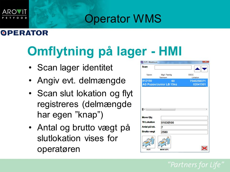 Omflytning på lager - HMI